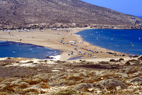 Prassonissi beach